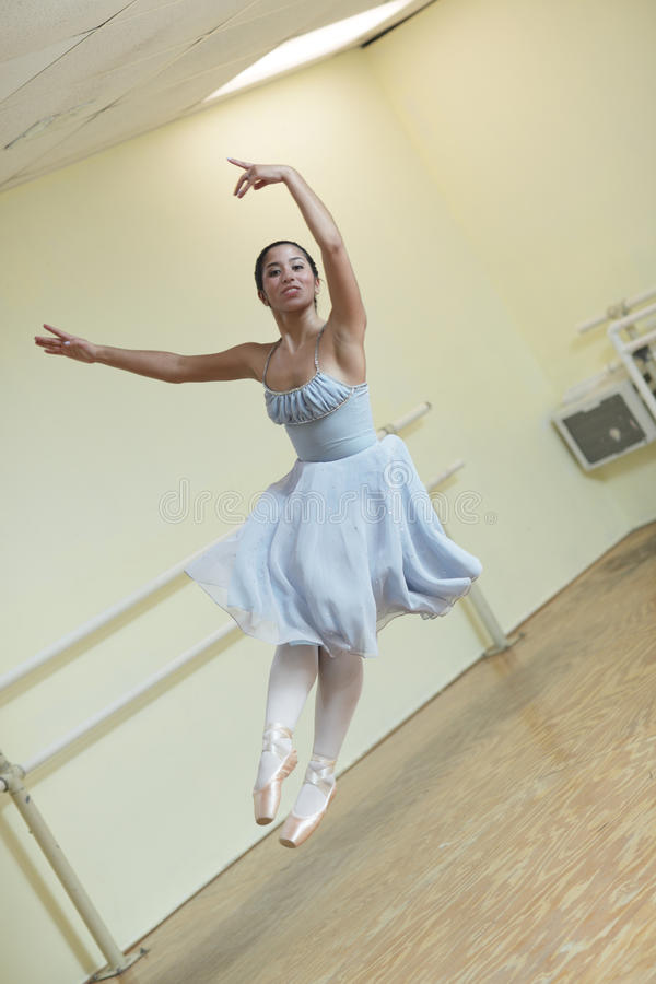 Ballerina In Midair Royalty Free Stock Photo