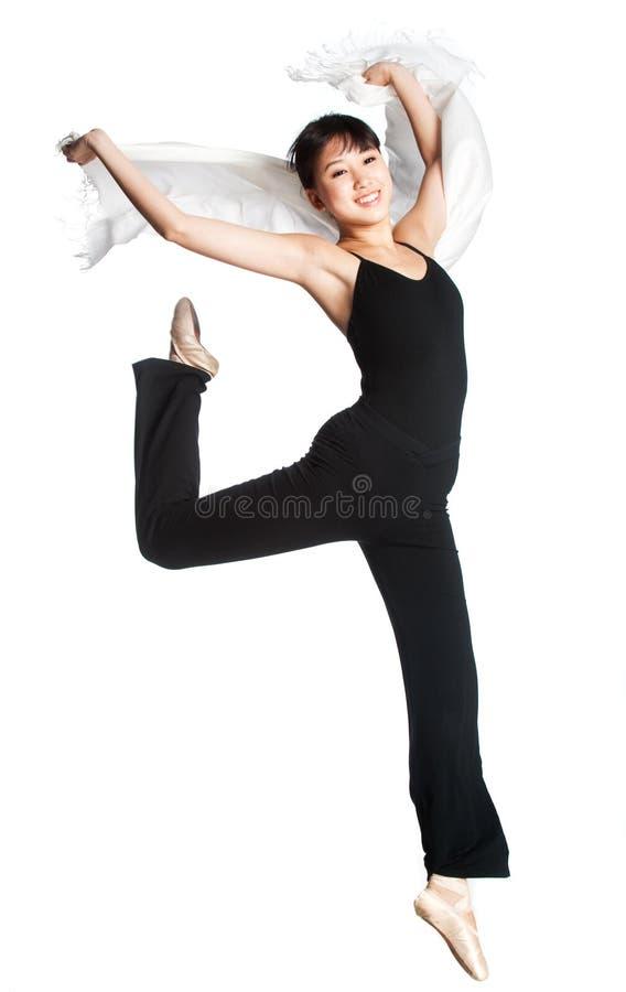 Ballerina mit Schal stockfoto