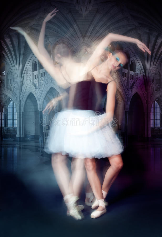 Ballerina In Motion Stock Photos