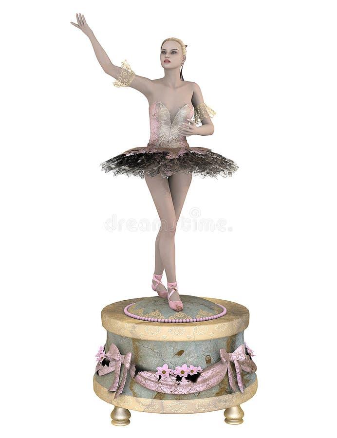 Ballerina on music box royalty free stock photo