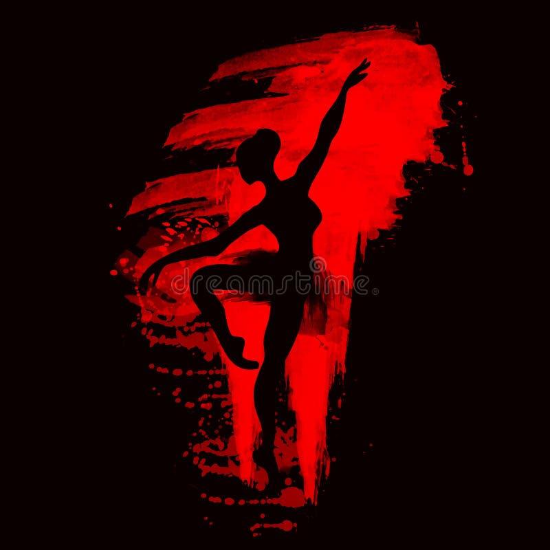 Ballerina nel ballo watercolor royalty illustrazione gratis