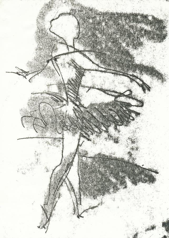 Ballerina, no.2 illustrazione vettoriale