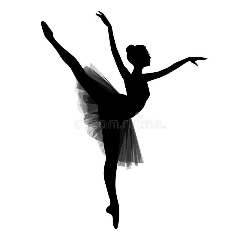 Ballerina op witte achtergrond stock illustratie