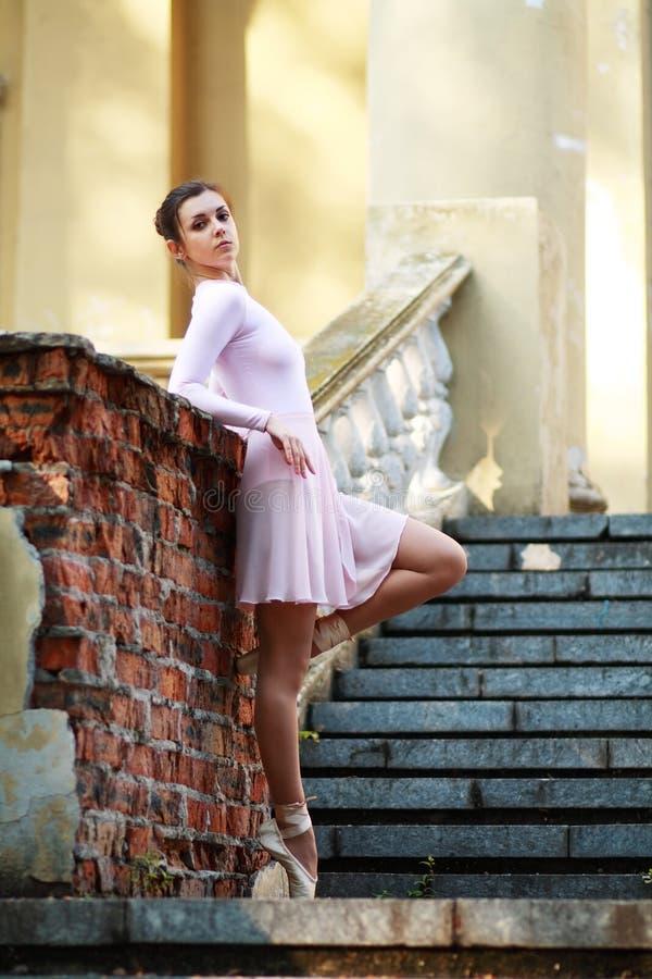 Ballerina outdoors royalty free stock photo