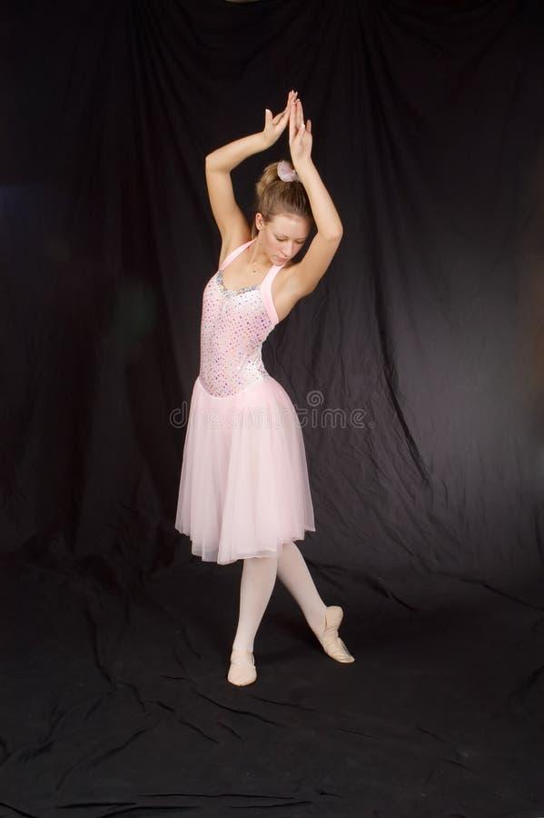 Ballerina in pink stock photo