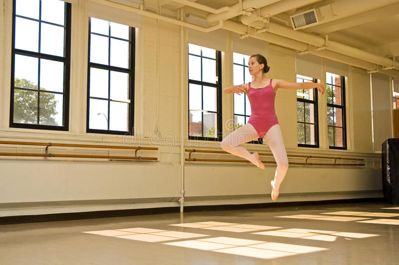 Ballerina Practicing royalty free stock images