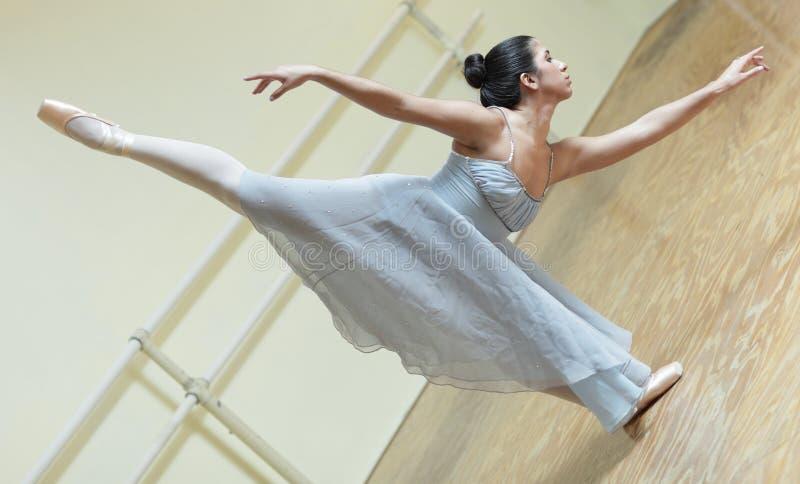 Ballerina practicing in the studio