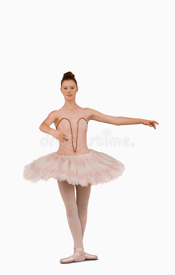 Download Ballerina Preparing To Spin Stock Image - Image of background, spread: 25336287