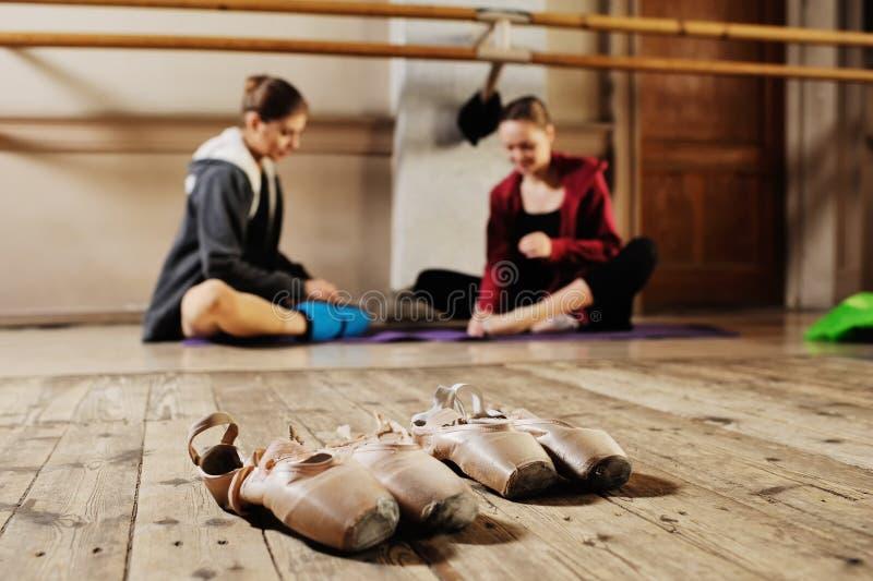 Ballerina in rehearsal or training royalty free stock photo