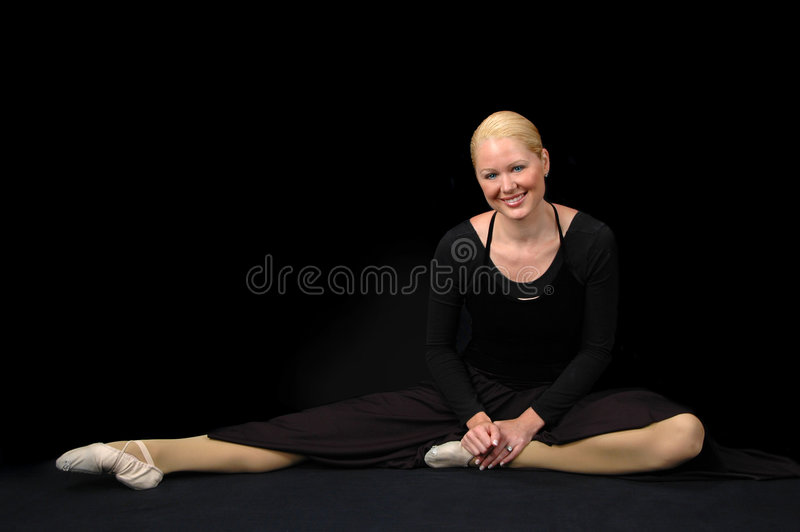 Download Ballerina Resting And Smiling Stock Image - Image of ballerina, girl: 2391203