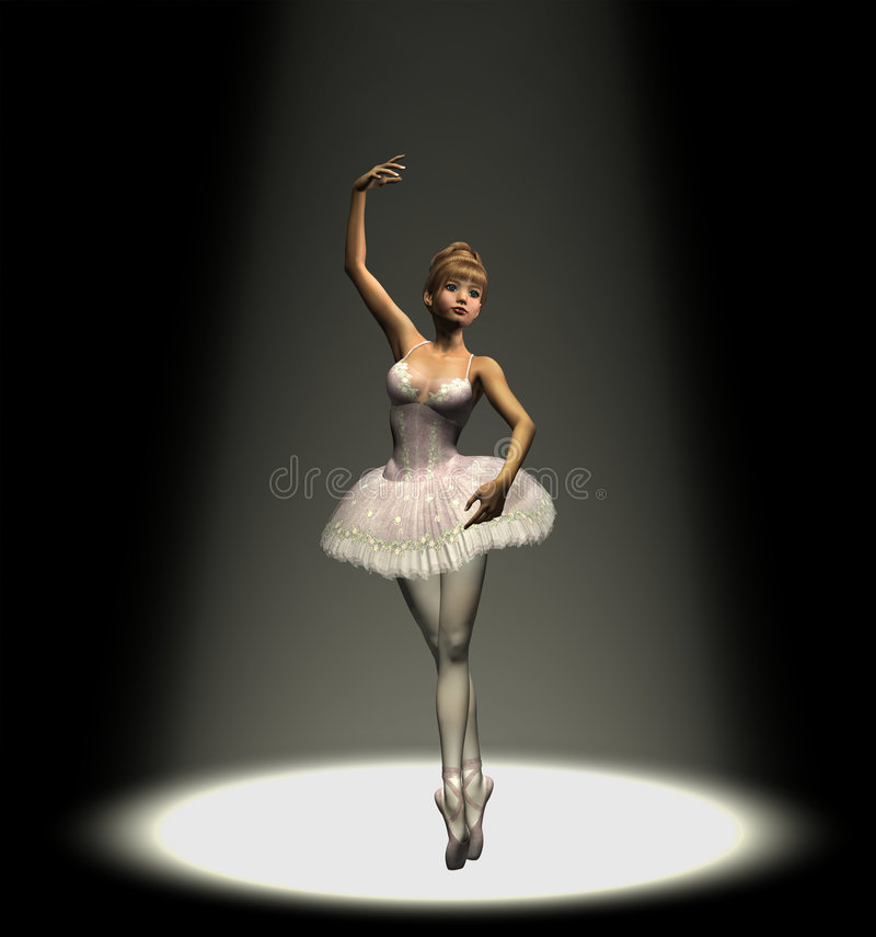Ballerina in riflettore illustrazione di stock