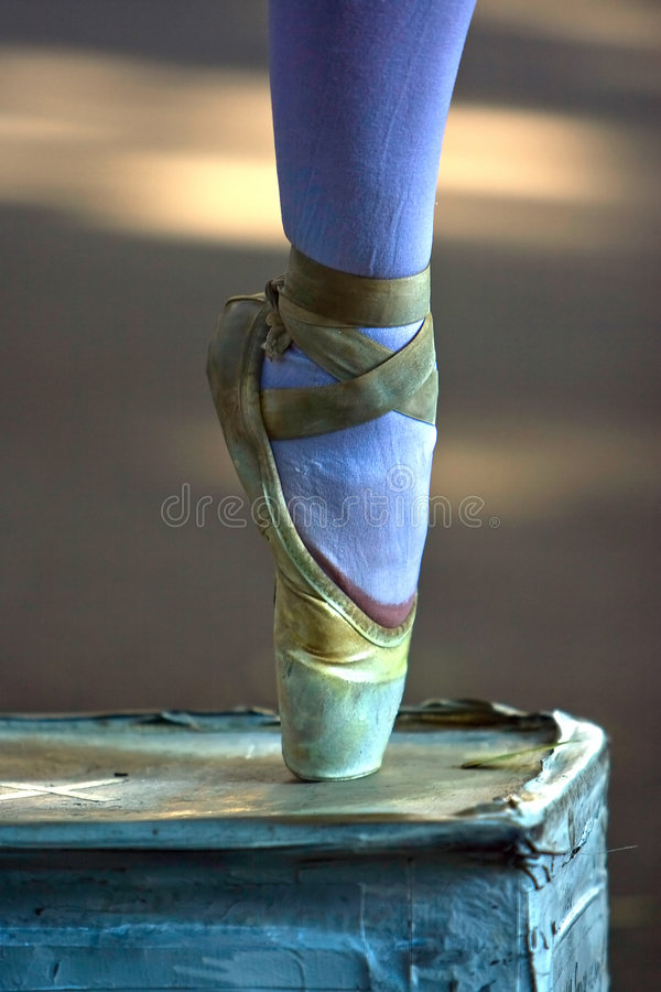 Ballerina's foot royalty free stock photo