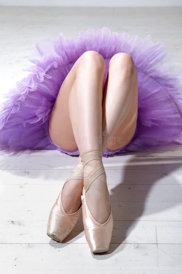 Ballerina's legs royalty free stock photos