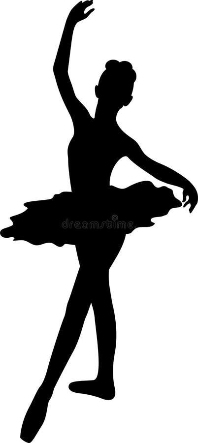 Ballerina Silhouette Royalty Free Stock Photos
