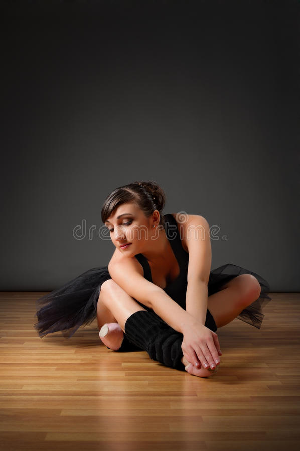 Download Ballerina sit on the floor stock photo. Image of adult - 21964838