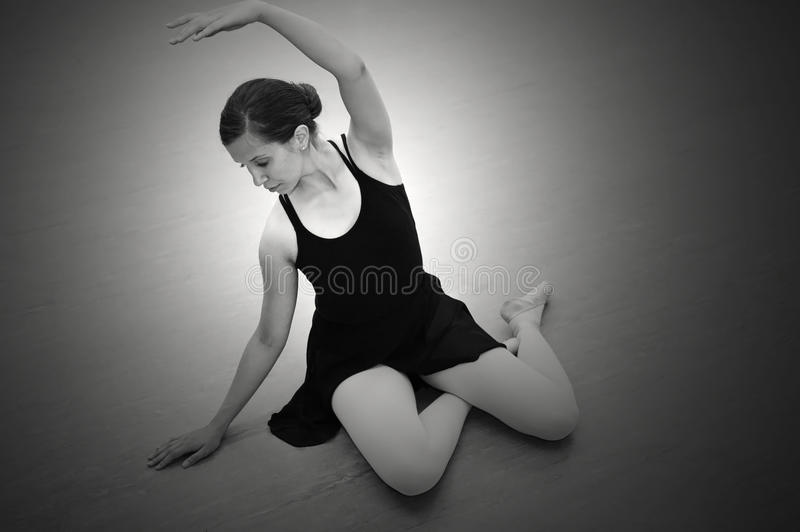 Ballerina Sitting Royalty Free Stock Images