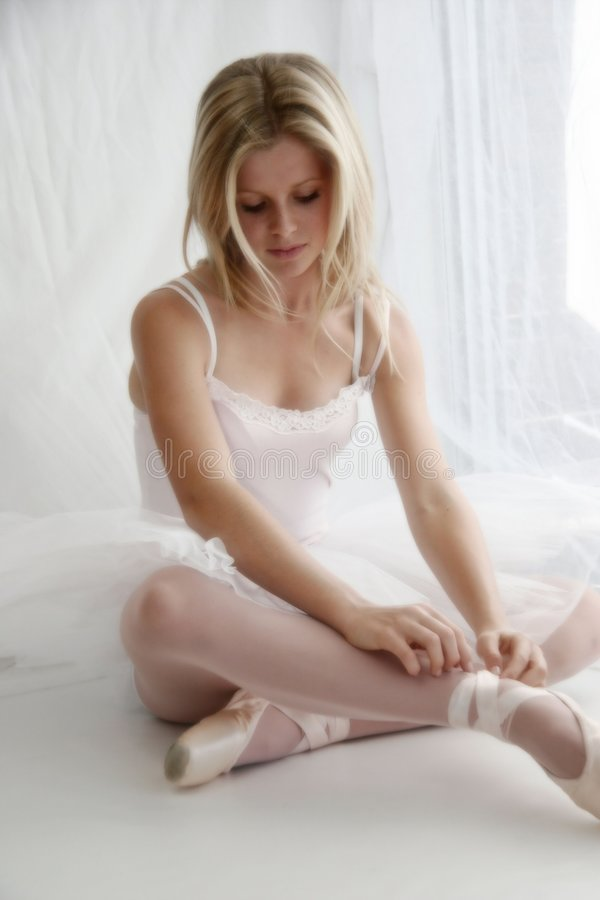 Ballerina soft focus royalty free stock photography