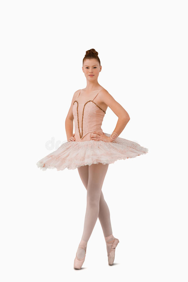 Download Ballerina Standing On Her Tiptoes Stock Photo - Image of long, girl: 25336282
