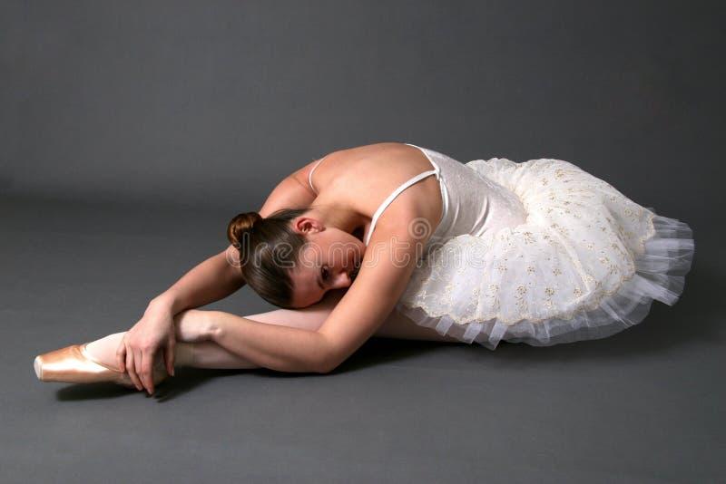 Ballerina Stretching stock image