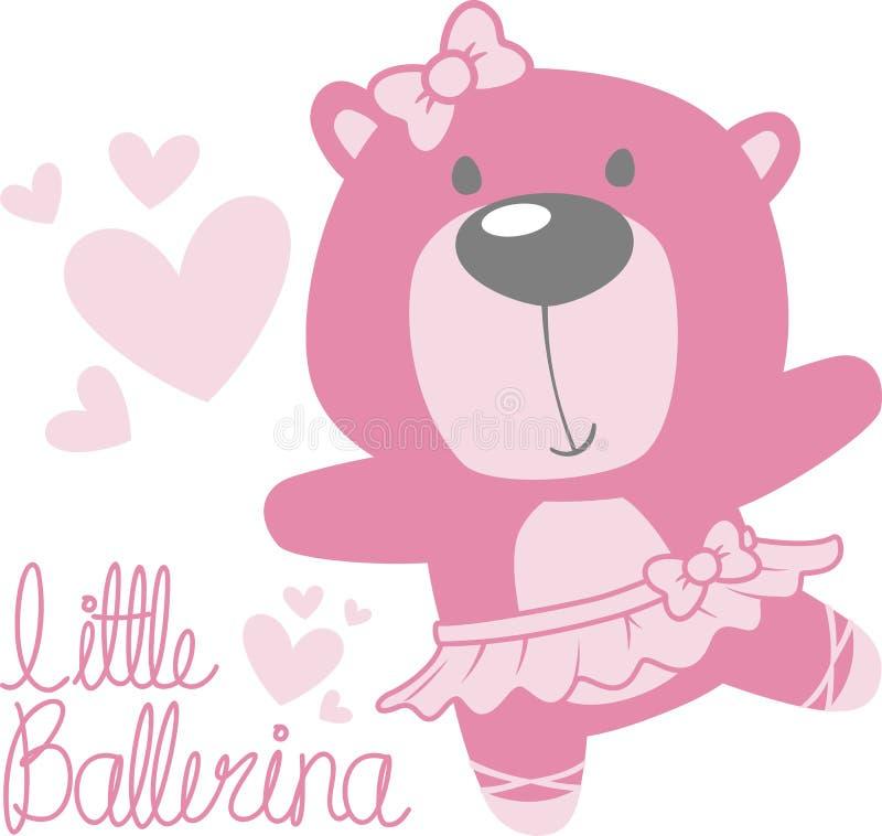 Ballerina sveglia dell'orso del bambino royalty illustrazione gratis