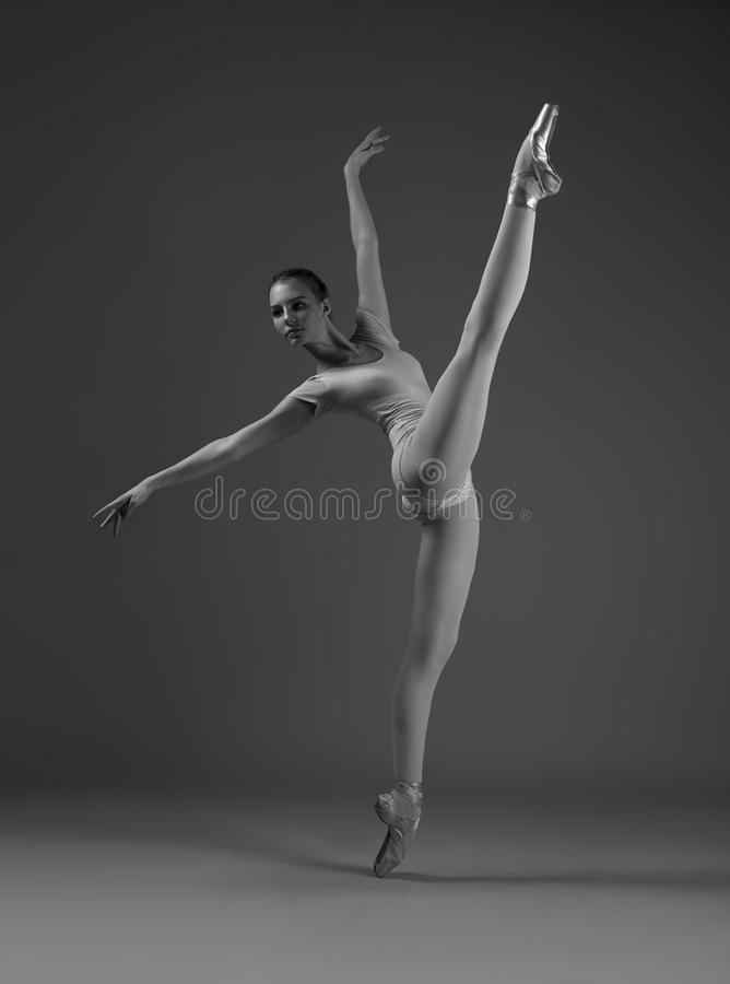 Ballerina in a twine stock photography