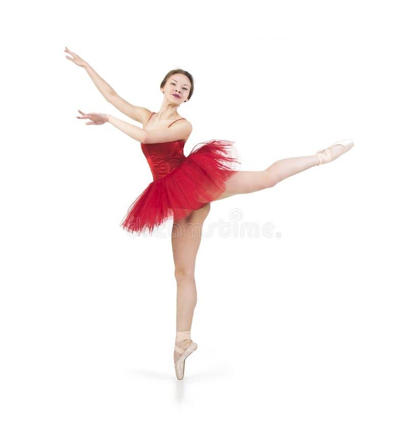 Ballerina in un tutu rosso immagini stock libere da diritti