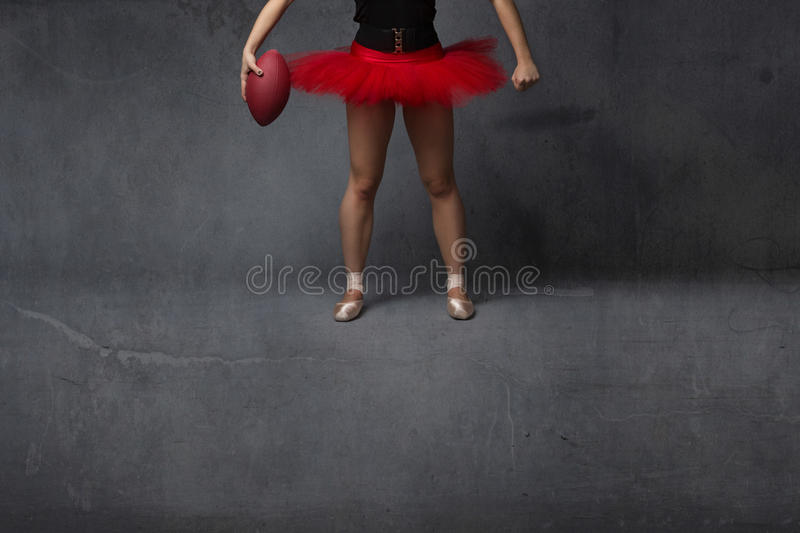 Ballerina of voetbalster dichte omhooggaand royalty-vrije stock afbeelding