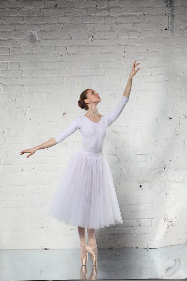 Ballerina in white royalty free stock photos
