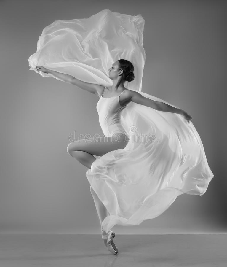 Ballerina with wings royalty free stock photo
