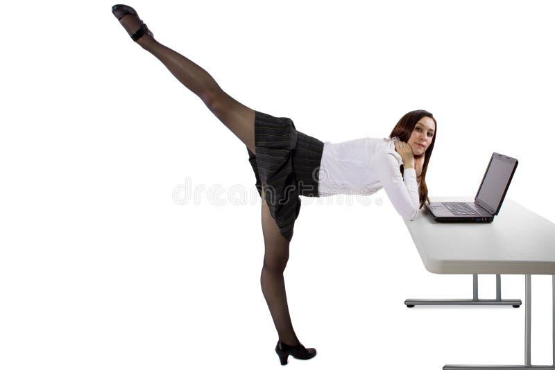 Ballerinaaffärskvinna arkivbilder