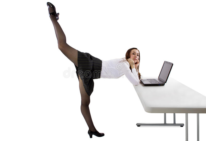 Ballerinaaffärskvinna royaltyfria foton