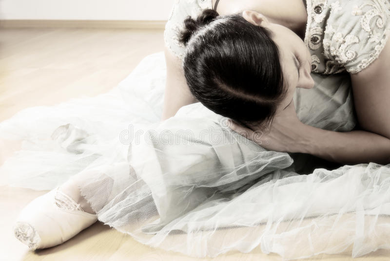 Ballerinaausdehnen stockfoto