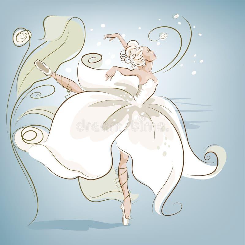 Ballerinablomma vektor illustrationer