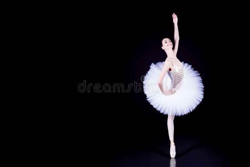 Ballerinadanser in witte tutu royalty-vrije stock afbeelding
