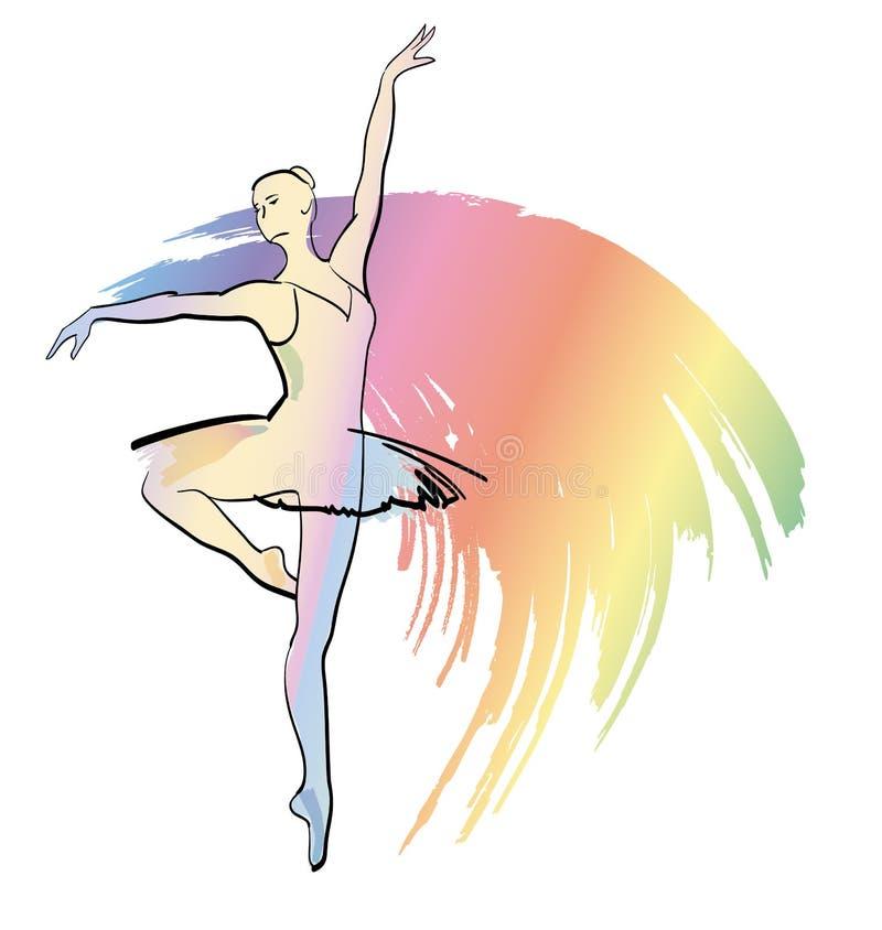 ballerinadansflicka vektor illustrationer