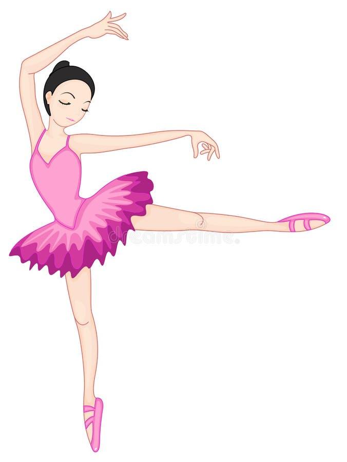 ballerinaen poserar white stock illustrationer