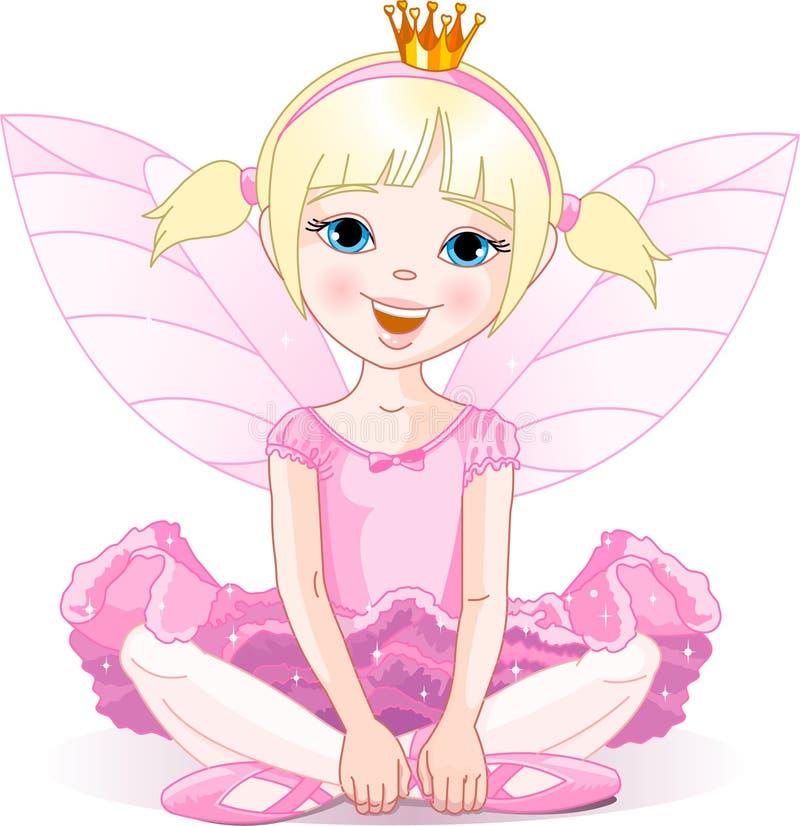 ballerinafe little royaltyfri illustrationer