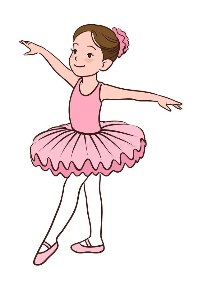 Ballerinaflicka stock illustrationer