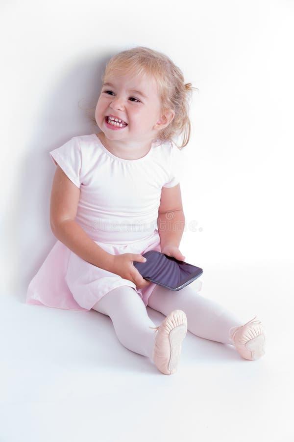 Ballerinameisje met haar Tutu royalty-vrije stock foto