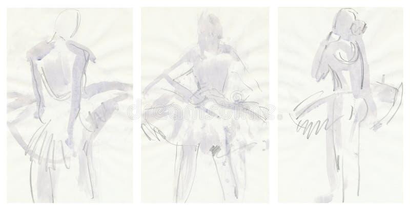 ballerinas που σύρουν την προσφορά απεικόνιση αποθεμάτων