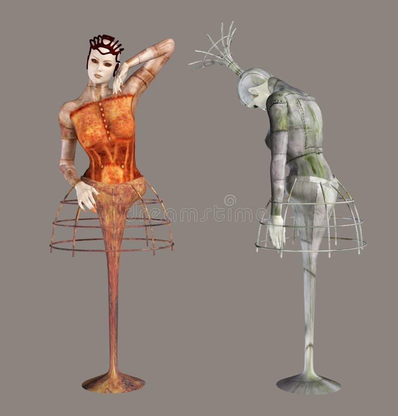 ballerinas φανταστικά διανυσματική απεικόνιση