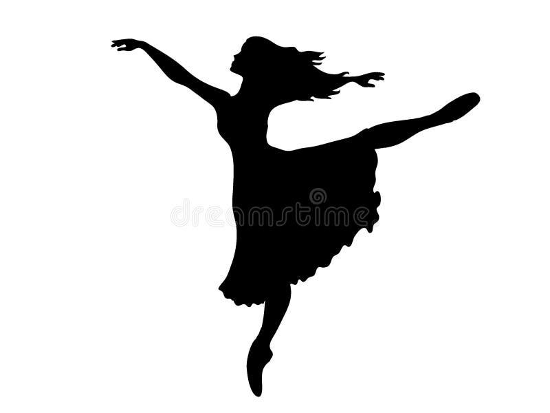 Ballerinaschattenbild lizenzfreie abbildung