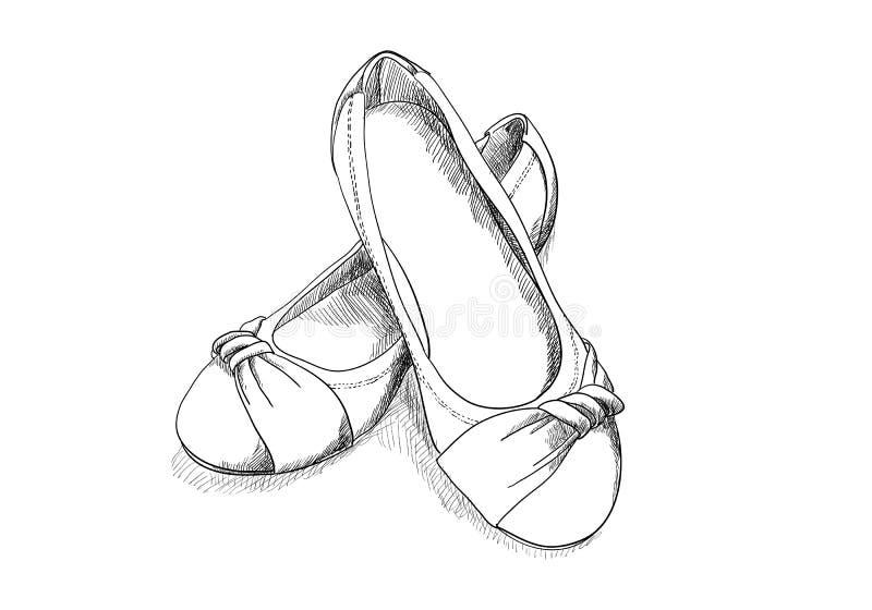 Ballerinaschuhe vektor abbildung