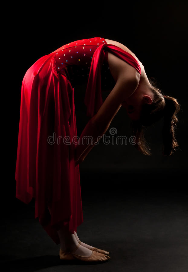 Ballerinastillstehen lizenzfreies stockbild