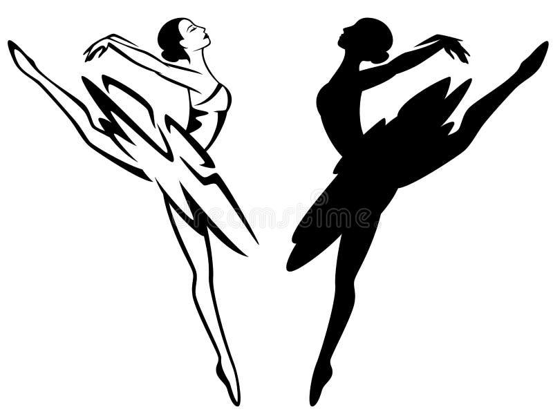Ballerine illustration stock