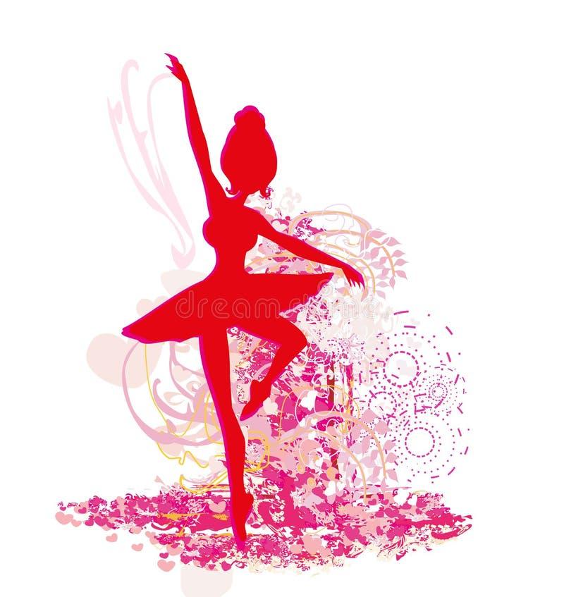 Ballerine - affiche abstraite de carte illustration de vecteur