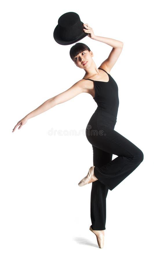 Ballerine avec le premier chapeau photographie stock libre de droits