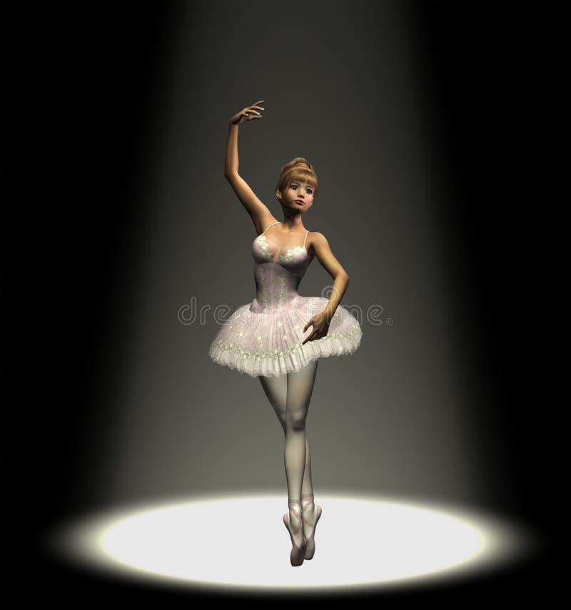 Ballerine dans le projecteur illustration stock