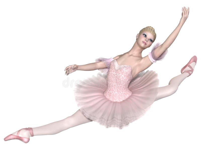 Ballerine dans le tutu rose - Jeté grand illustration libre de droits
