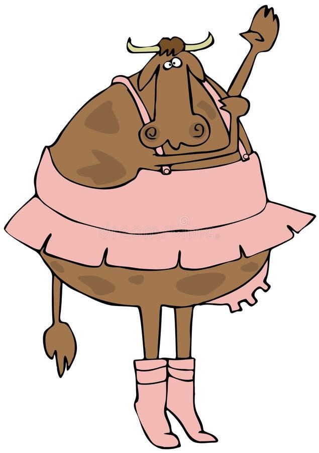 Ballerine de vache illustration de vecteur